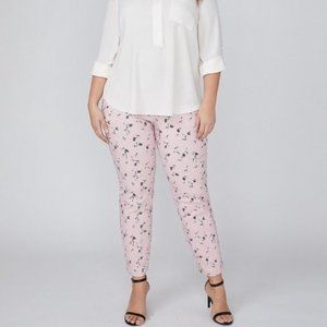 LANE BRYANT Pink Floral 'Allie' Ankle Pants sz 26